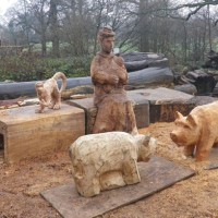 1. Cutty Sark, work in progress, mum pigs and monkey