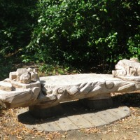 12. Bench sculpture in beech for Guy Chester Centre Muswell Hill