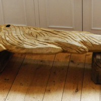 15. Fish bench in sweet chestnut