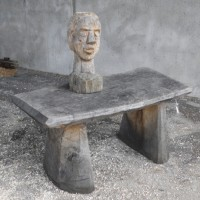 18. Small Table in oak, Head study in pine