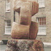 5. Traveller, tree trunk carving, London plane, Mecklenburgh Square, London.
